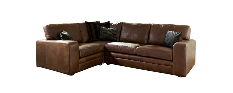 Brown Leather Corner Sofa 800 x 321