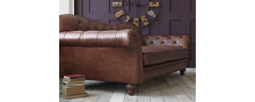 Crompton Large Chesterfield Sofa Leather Sofas