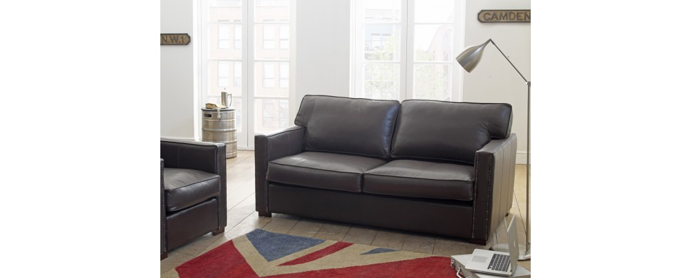 Castell Leather Studded Sofa Leather Sofas