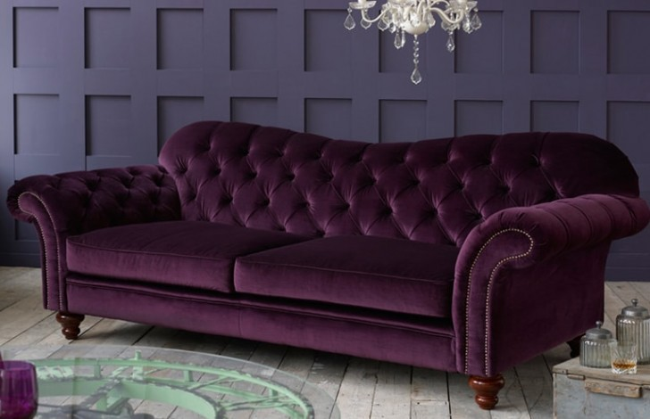 Crompton Vintage Fabric Sofa Fabric Chesterfield Sofas