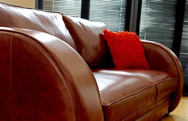 Art deco sofa leather sofas for Art deco style sofa