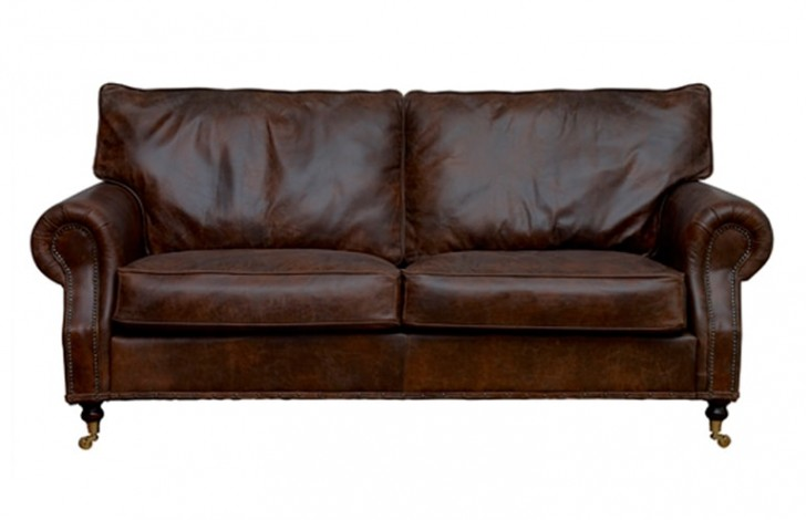 Arlington studded leather sofa leather sofas for Leather studded couch