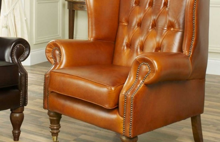 Flat Wing Buttoned Armchair