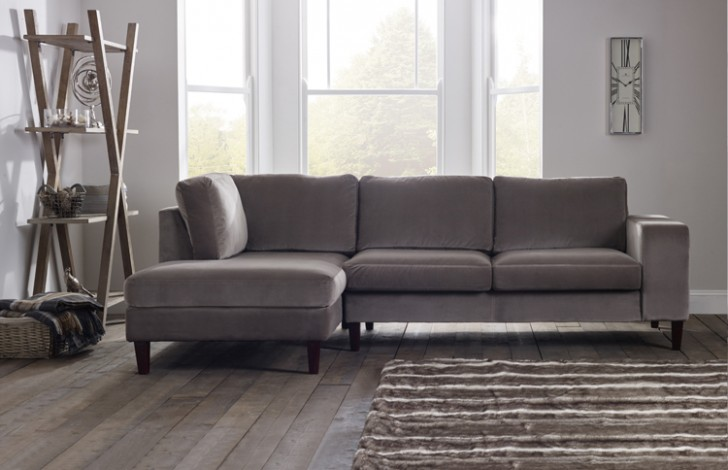 Wellington Contemporary Chaise Sofa Fabric Chaise Sofas