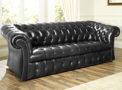 Beckett Buttoned Leather Sofa