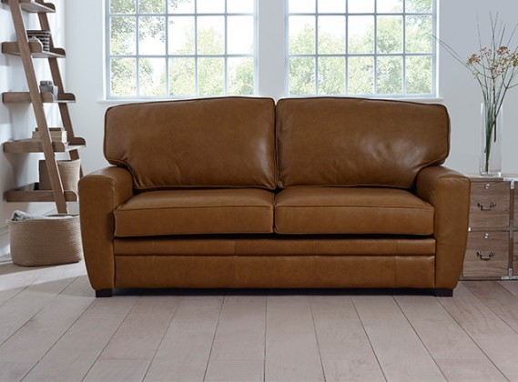 Ashford Leather Buttoned Sofa Leather Chesterfield Sofas