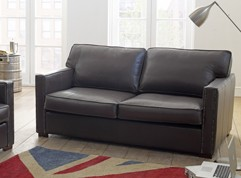 Castell Brown Leather Sofa