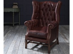 Manchester Leather Wing Chair