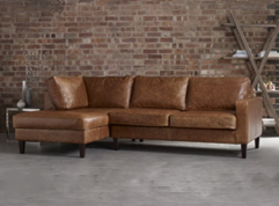 Leather corner sofas handmade from real top grain 50 for Barcelona chaise corner sofa