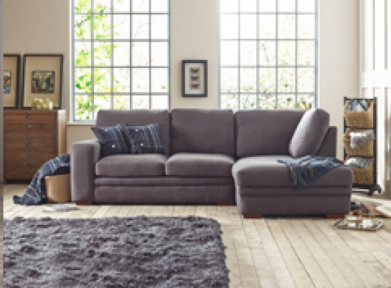 Abbey fabric corner chaise right hand facing