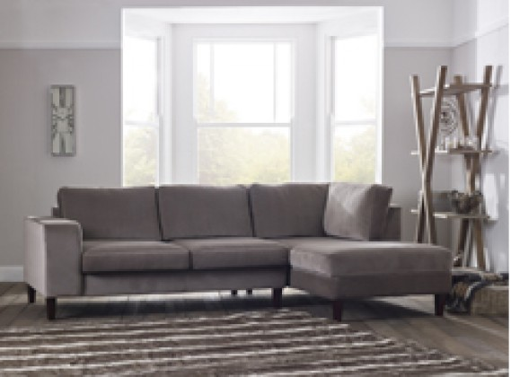 Wellington fabric corner chaise right hand facing