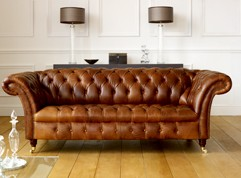 Barrington Vintage Leather Sofa