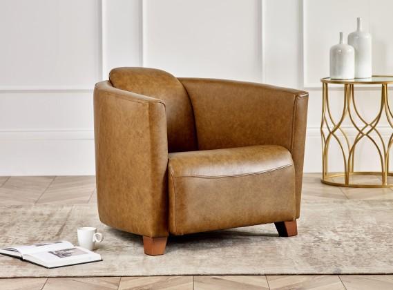 Hudson Leather Tub Chair