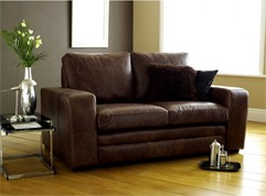 Denver Brown Leather sofa bed