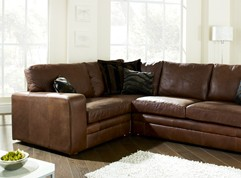 Abbey Leather Corner Settee
