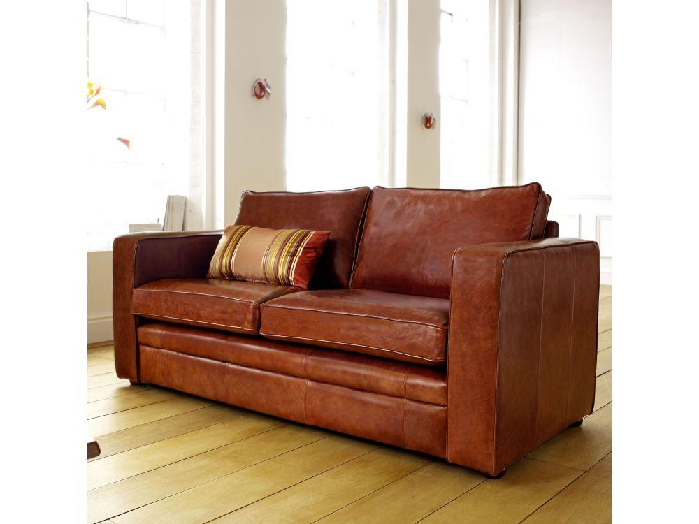 Compact Leather Sofa Trafalgar The English Sofa Company