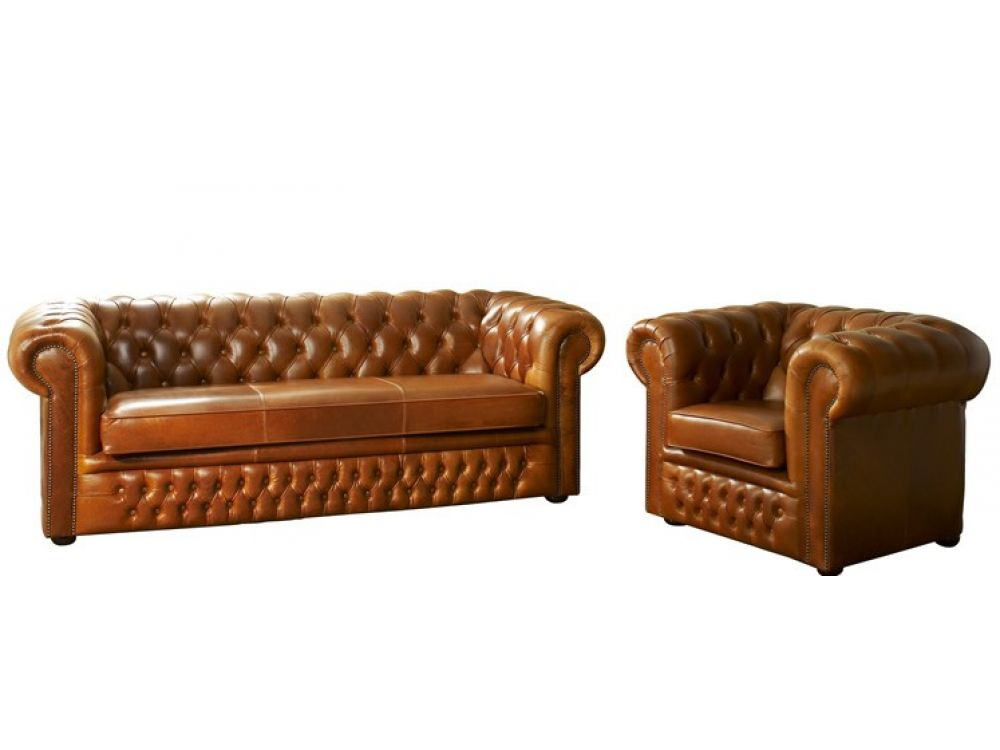 1259 Cambridgeleather Cambridge Chesterfield Sofa