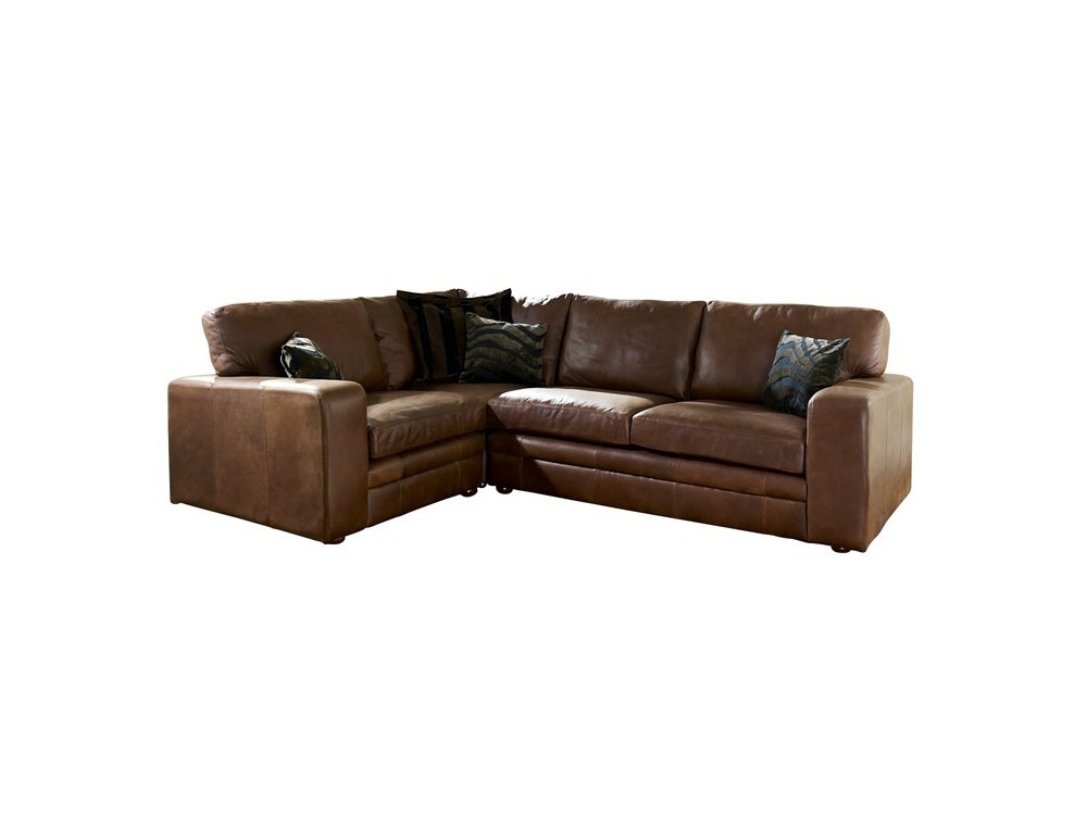 Brown Leather Corner Sofa Abbey Living Room Sofas