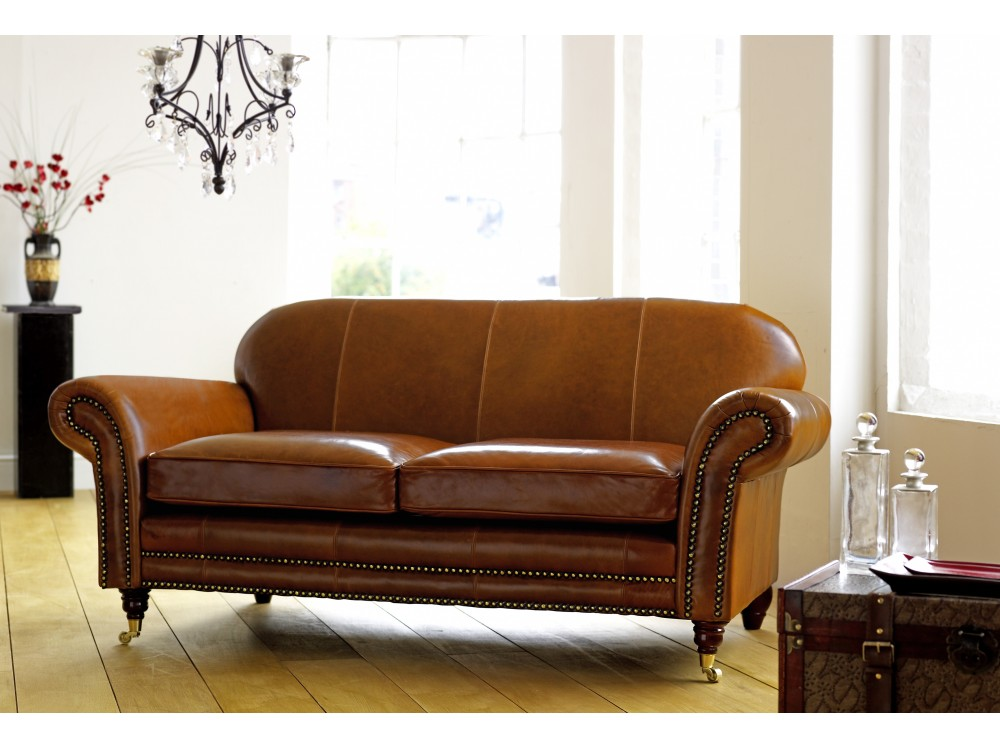 Rochester Vintage Leather Sofa On Legs The English Sofa