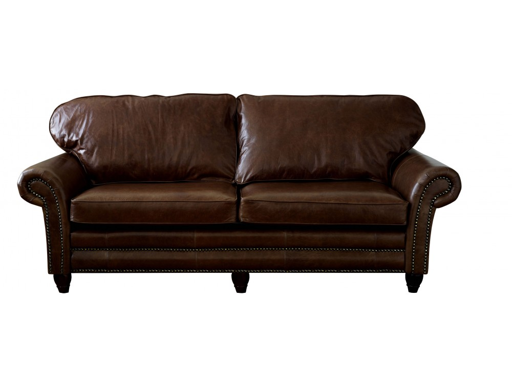 Traditional leather sofa cromwell the english sofa company for Traditional leather furniture