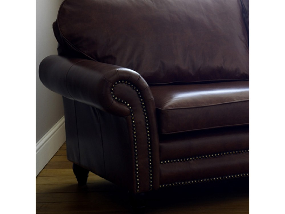 Traditional Leather Sofa Cromwell The English Sofa Company