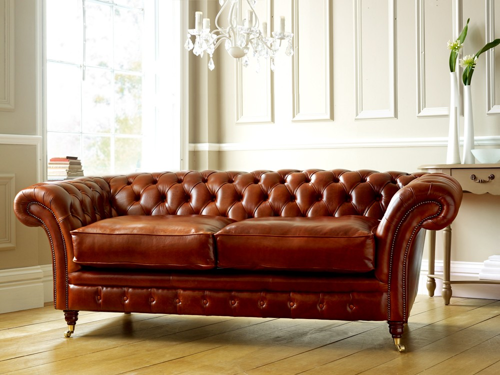 Roseberry Brown Chesterfield Sofa Click To Zoom