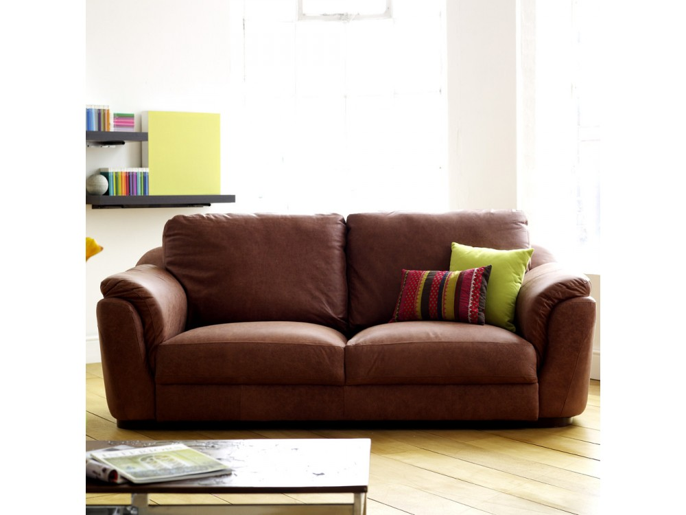 Pocket Sprung Leather Sofa Milan English Sofa Company
