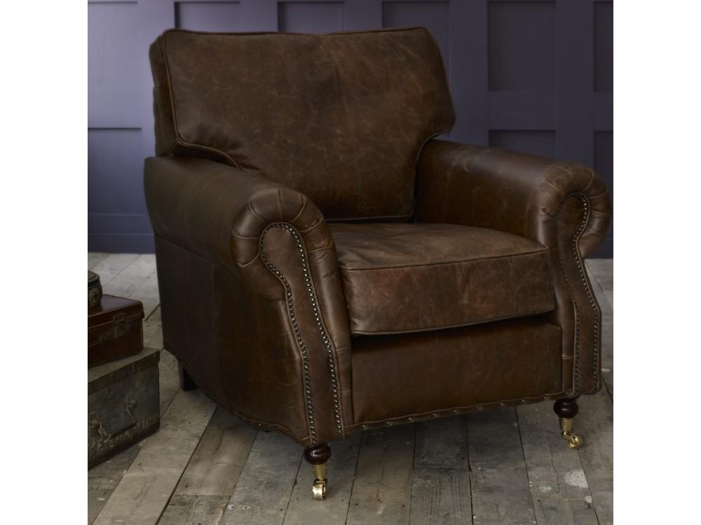 The Arlington Vintage Leather Sofa