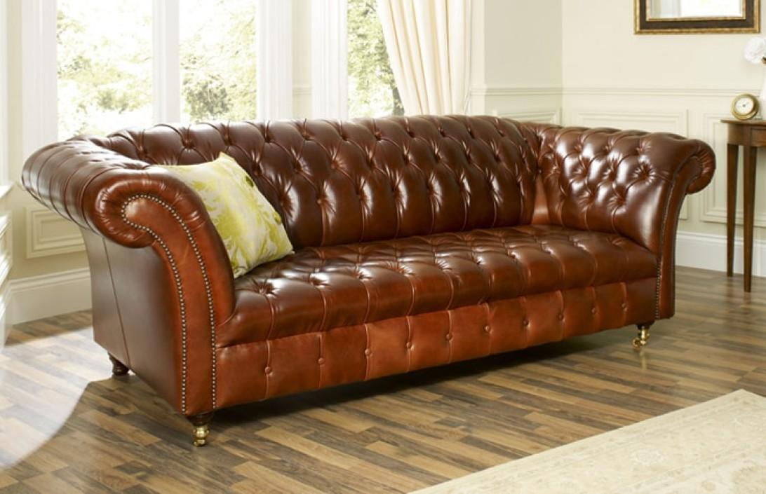 4 Seater Barrington Vintage Leather Sofa Leather Sofas