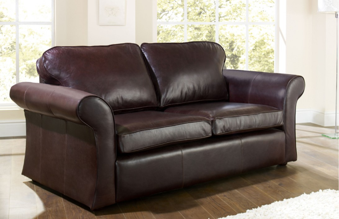 1851 chatsworth dark brown for Leather sectional sofa