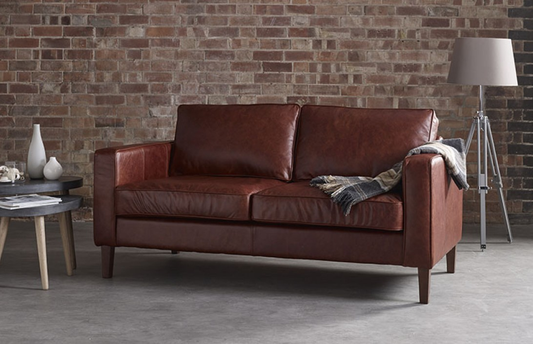 Drake Simple Sofa Leather Sofas