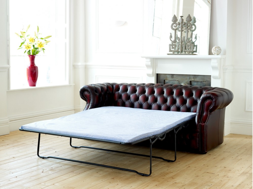 zoomimg kendal leather sofa bed