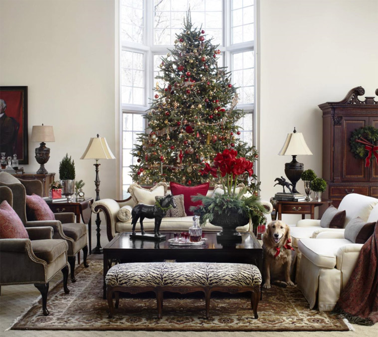Making the most of your lounge at christmas the english for Christmas ideas for living room