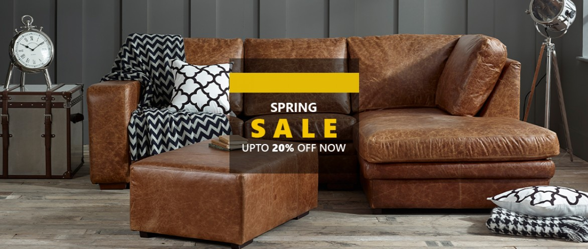 Our Spring Sale is Now On, Save Up To 20% off All Made to order sofas