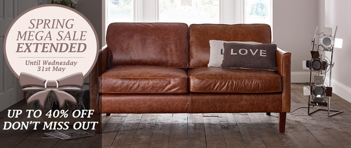 Columbus Leather Sofa Range