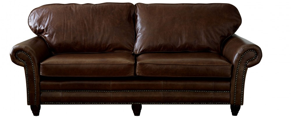 Cromwell Leather Sofa On Legs