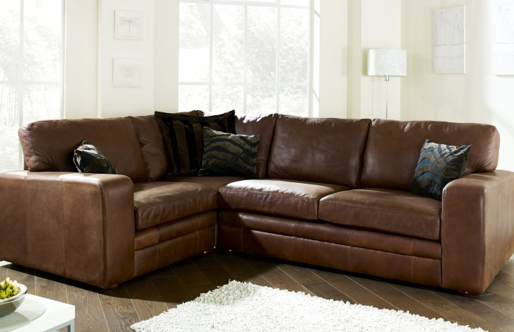 Charmant Abbey Leather Corner Settee