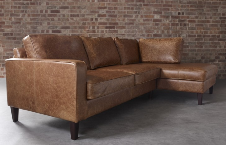 Drake Leather Chaise Sofa| Leather Corner Sofas
