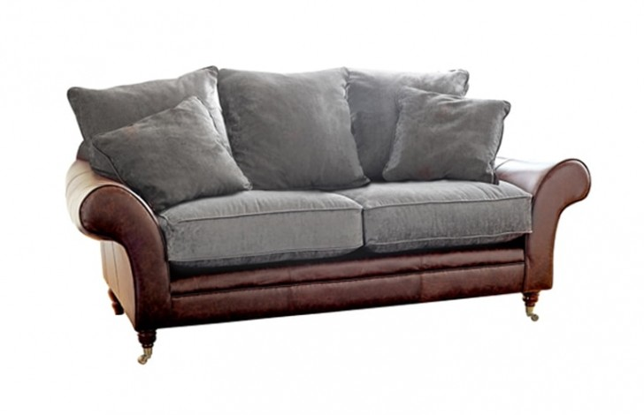Atlanta Leather and Fabric Sofa