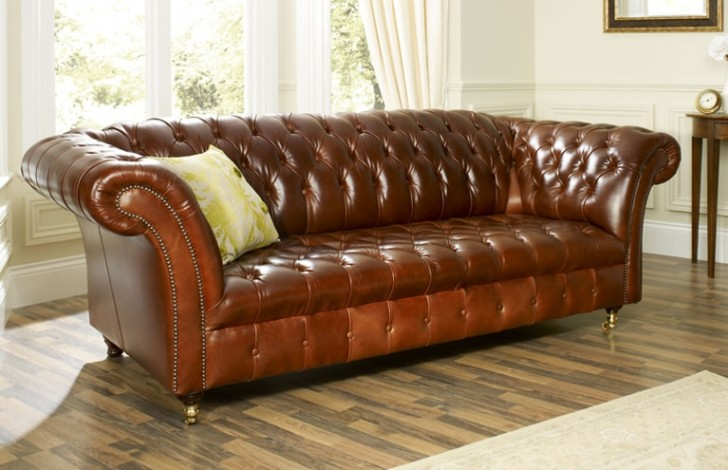High Quality Barrington Vintage Leather Sofa
