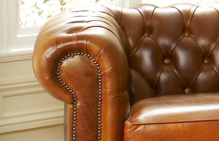Cambridge Leather Chesterfield Sofa