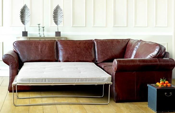 Chatsworth Leather Corner Sofa Bed | Corner Sofa Beds