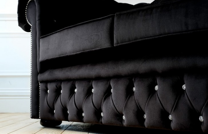 Diamante Velvet Chesterfield
