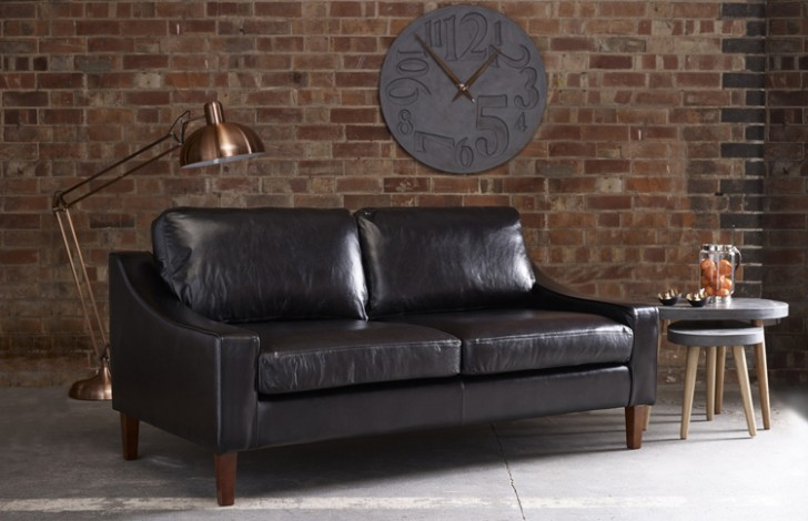 Hilary Modern Leather Sofa