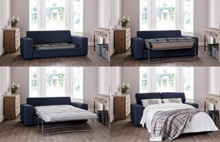 Torino Modern Fabric Sofa Bed Grey Fabric Sofas