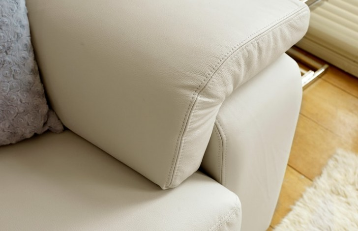 Sirocco White leather sofa