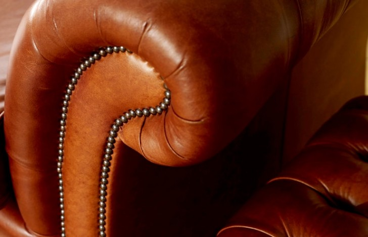 Pemberton Brown Leather Chesterfield