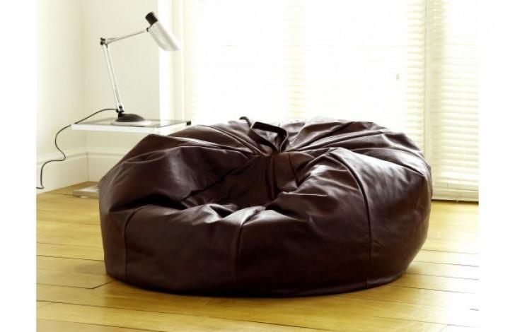 Macy Leather Beanbag