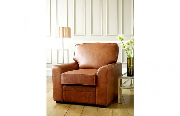 London Tan Leather Sofa