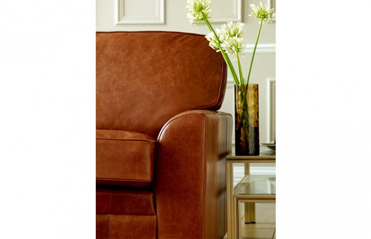 London Tan Leather Sofabed